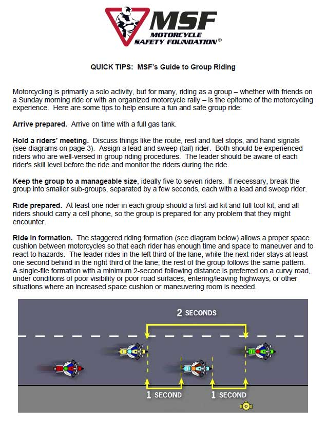 Group Riding Guide